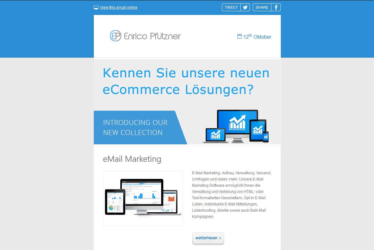 Responsive E-Mail-Template