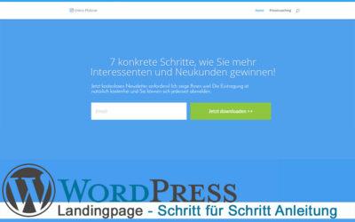 Landingpage mit WordPress erstellen